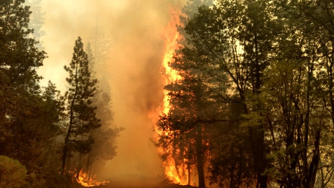 The August Complex fire active in Northern California has burned more than 860,000 acres, the largest ever in the state's history.