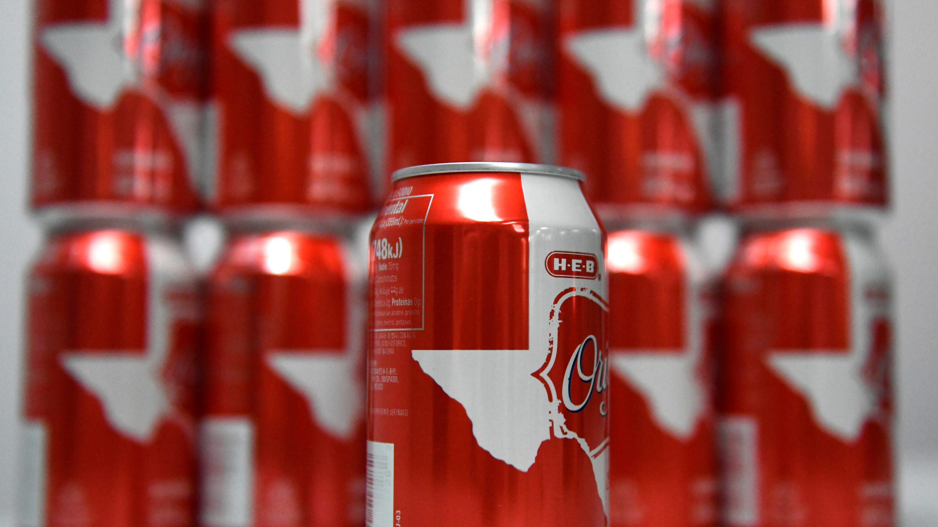 Throwing shade on the Sun City? Some H-E-B cola can wraps cut off El Paso in Texas logo