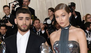 Zayn Malik, left, and Gigi Hadid.