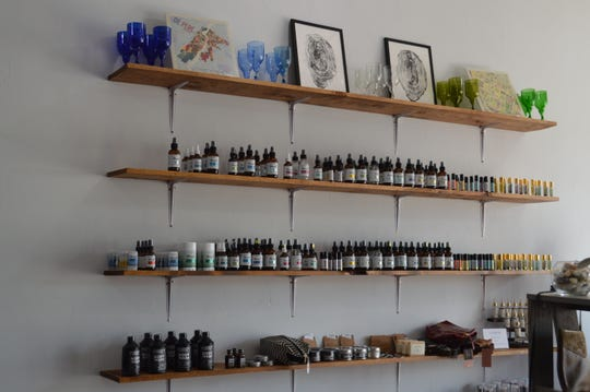 SmithMaker Artisan Co. displays products from brands like Nourish Natural Products.