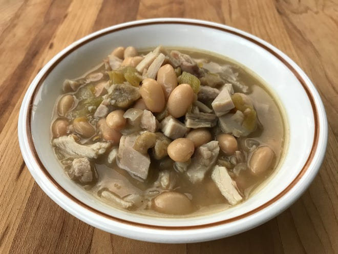 White Chicken Chili recipe from Bush's can be made in about 30 minutes with minimal mess and basic kitchen skills.