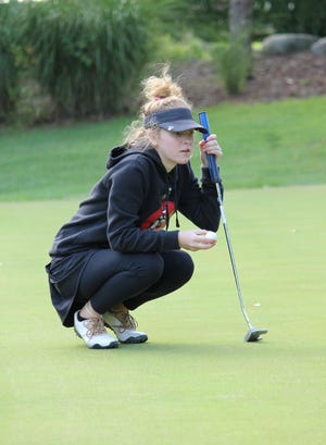 Pinckney's Olivia Ohmer was the medalist with a 42 against Jackson and Tecumseh.