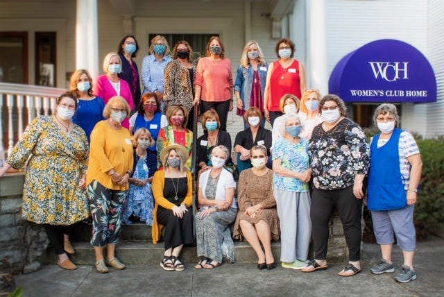 Marion Women's Club members on Sept. 15 celebrated the National Historic Site Registry designation and the club's 125th anniversary.