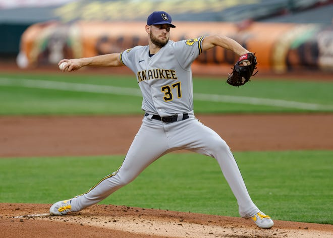 Brewers starting pitcher Adrian Houser had trouble in the shortened-2020 season repeating his production from 2019, when he had a 3.72 ERA while splitting time between the starting rotation and bullpen duty. He finished 2020 with a 5.30 ERA in 12 outings.