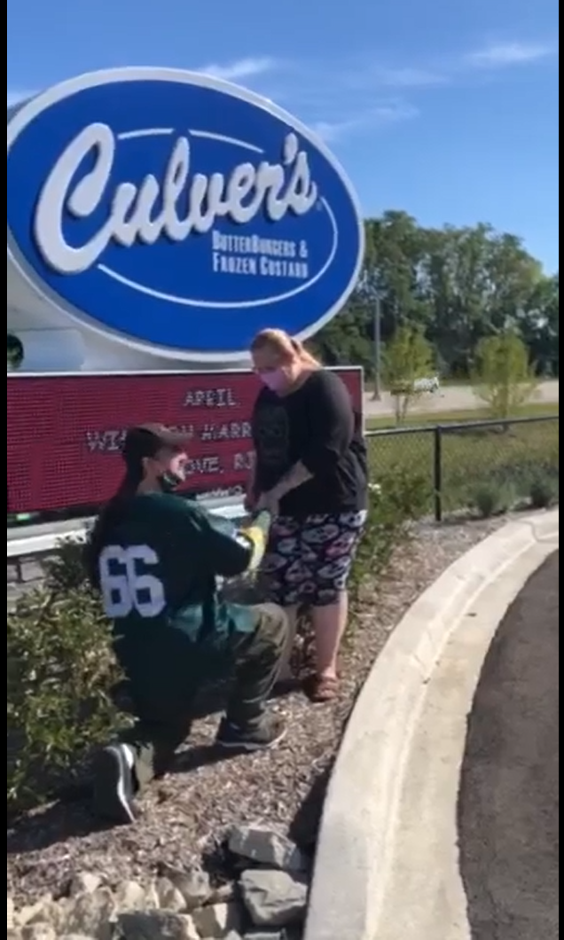 This Culver's wedding proposal is very Wisconsin