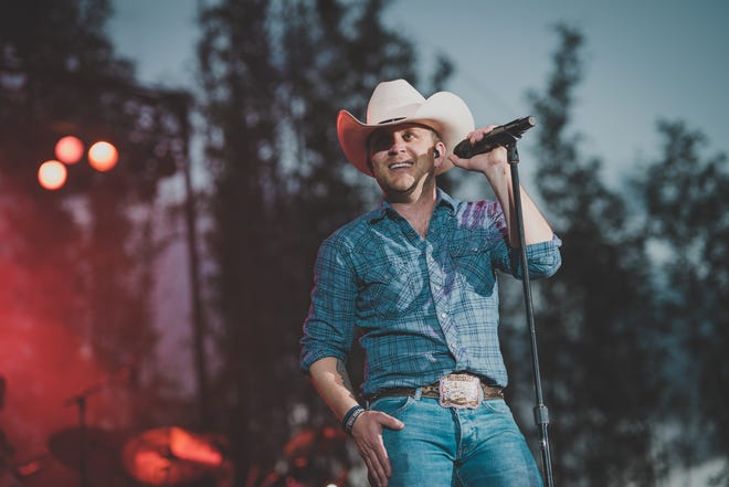 Country star Justin Moore will perform Saturday night at Mountain Home's Hickory Park. The Poyen native has released eight chart-topping singles and had three No. 1 albums.