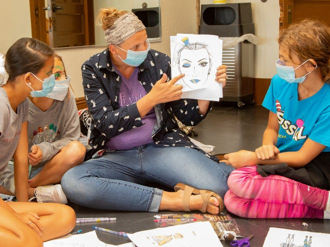 Muncie Civic Theater continues to provide youth theater programming with modifications for safety during the COVID-19 pandemic including outdoor practices and productions, mask use, and social distancing.
