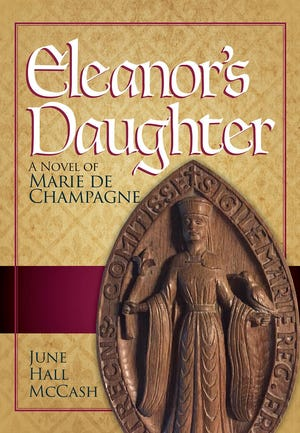 """June Hall McCash of Murfreesboro won a first-place award in the Chaucer competition of the Chanticleer International Book Awards for her latest historical novel, """"Eleanor's Daughter: A Novel of Marie de Champagne."""""""