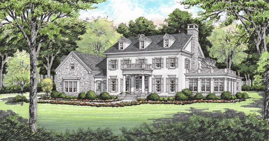 Modern Remains interior designer Lauren Moore is working with builder Baird Graham on this new home in Sloan Valley Farms and says home office, privacy and outdoor living priorities are definitely part of the plan for this New England Colonial.