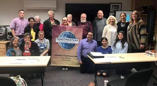 Deming Toastmasters members were photographed as a group prior to the state mandated health orders in response to the COVID-19 pandemic. Members continue to meet in a virtual setting, via Zoom. The group will host a virtual open house at 6 p.m. on Wednesday, Sept. 30, 2020.