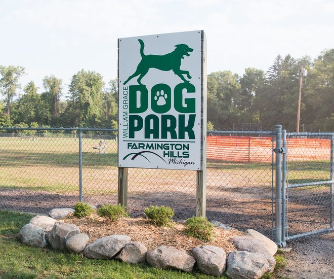 The William Grace Dog Park in Farmington Hills.