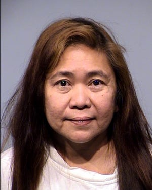 Christine Garthright, 51, was arrested on charges on fraud and theft.