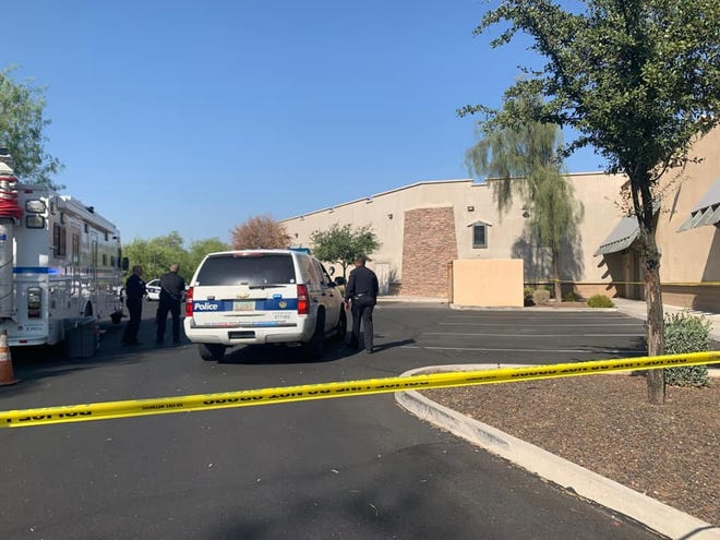 An infant found unresponsive and not breathing was pronounced dead at the scene behind a south Phoenix business on Sept. 24, 2020.