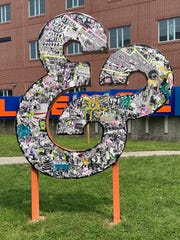 """The """"Ampersand"""" sculpture is not only a tribute to protesters, but it also on steps away from the Lancaster City Bureau of Police Department."""