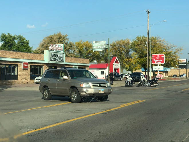 Police responded to a report of a car hitting a child on a bike near 12th Street and Summit Avenue on Thursday, Sept. 24, 2020.