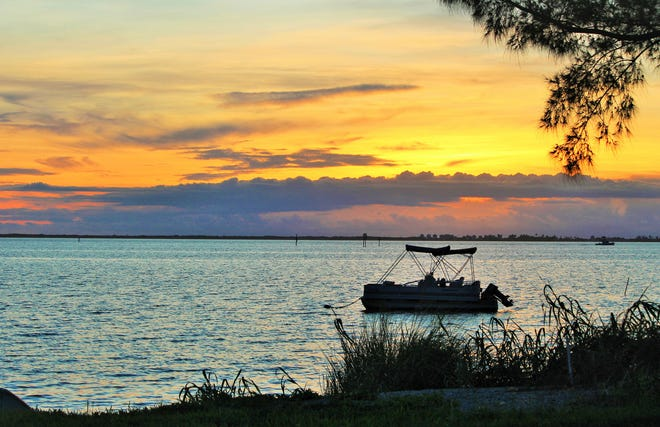 Pam Anderson shared a picture of a colorful sunrise over the Indian River Lagoon in Sebastian.