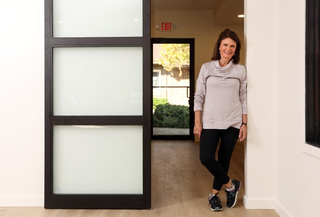 Sandy Booth will open her yoga studio, The Yoga Booth, in October.