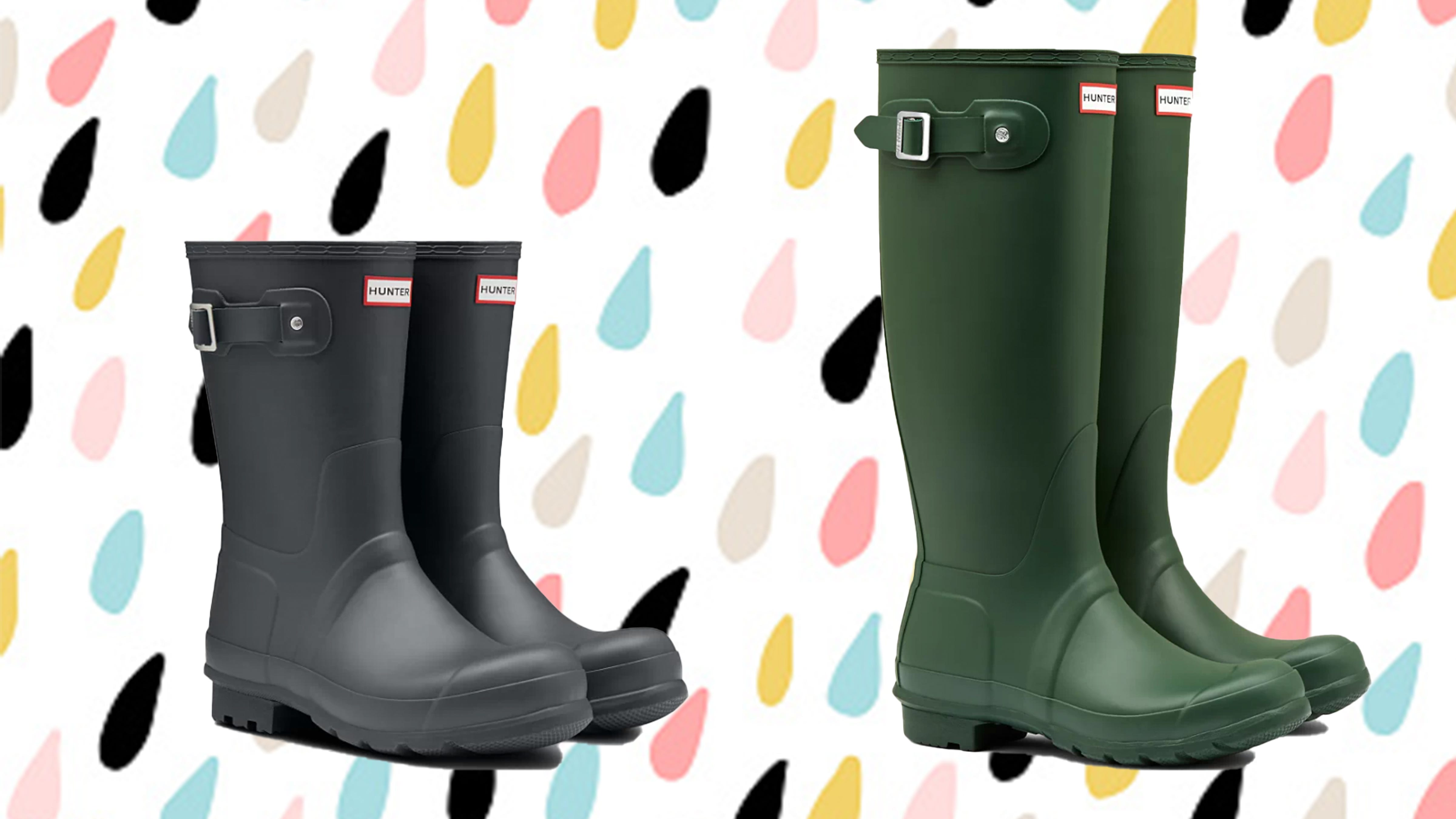 Hunter rain boots are on sale