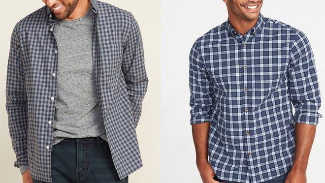 Los mejores regalos para los adolescentes varones: camisa a cuadros Old Navy