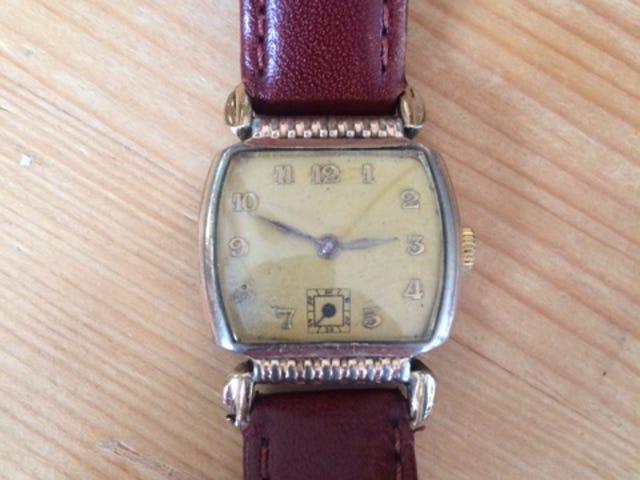 An Akron soldier gave this wristwatch to a British man during World War II.