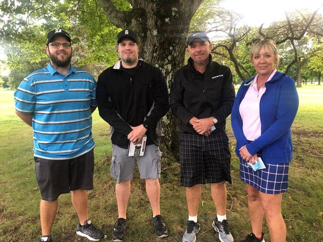 The Copeland Oaks team of Lisa Gentile, Dave Mannion, Mike Kisik and Jeremy Thomas won the Jim Fish Memorial Golf Classic, presented by the Alliance Area Chamber of Commerce, at Tannenhauf Golf Club.