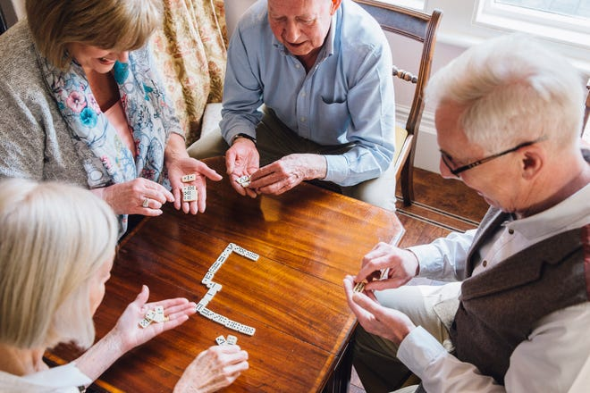 As people age, it's good to maintain social settings to help avoid isolation.