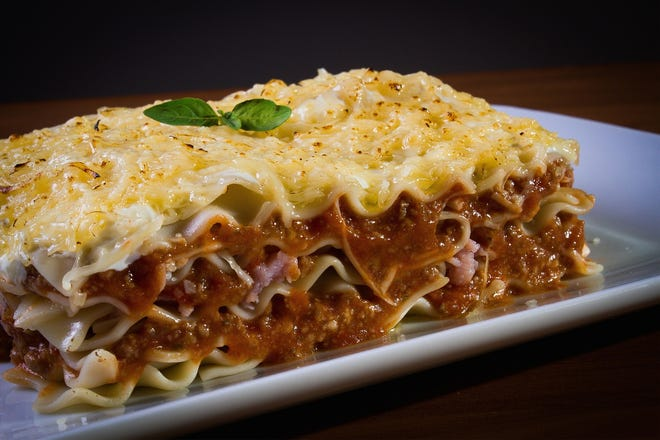 Lasagna is one of the options from Luigi's in Churches United in Community CONCERN's annual fundraiser.
