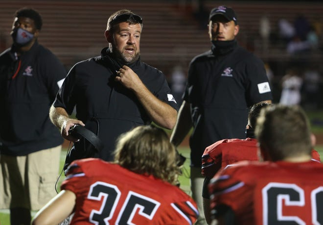 Groveport coach Mitchell Westcamp [Lorrie Cecil/ThisWeek Newspapers]