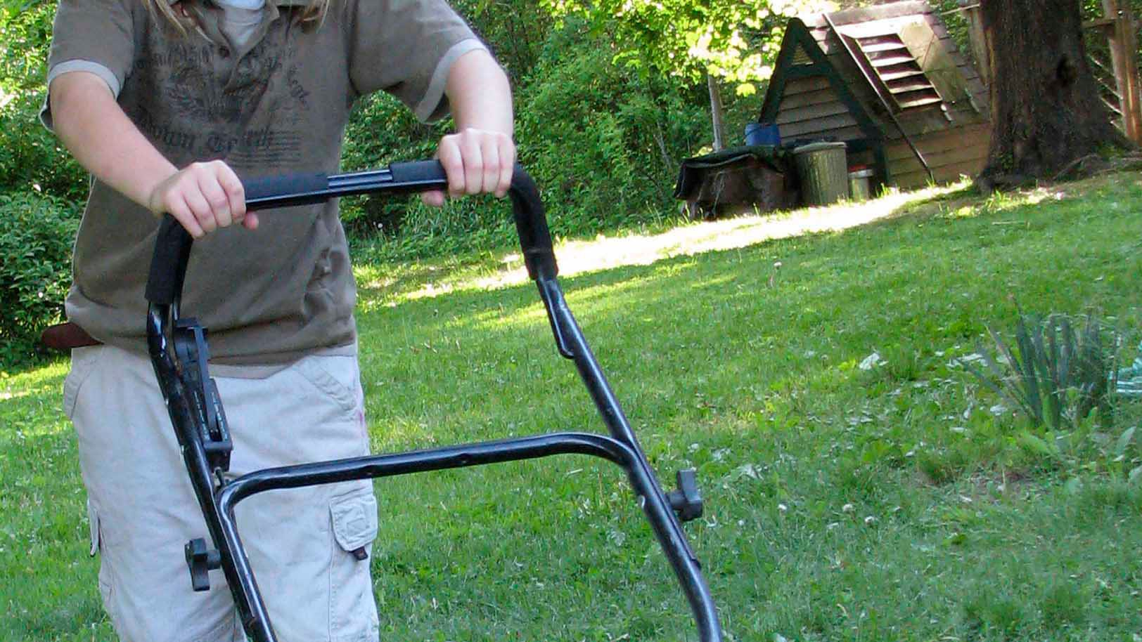 Keep mowing as long as the grass is growing.