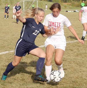 Keona Arnold and the Crookston girls' soccer team fell to Hillcrest Lutheran, 2-0, on Thursday.