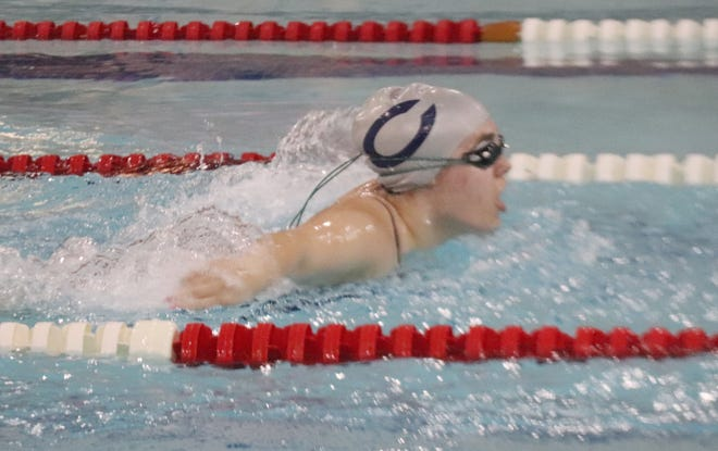 Victoria Proulx swam a career-best time in the 50-meter freestyle on Thursday.