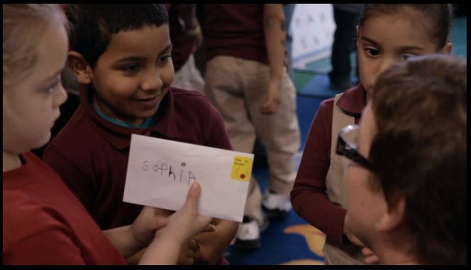 This still from the documentary illustrates early educators shifting approaches to address adverse childhood experiences.