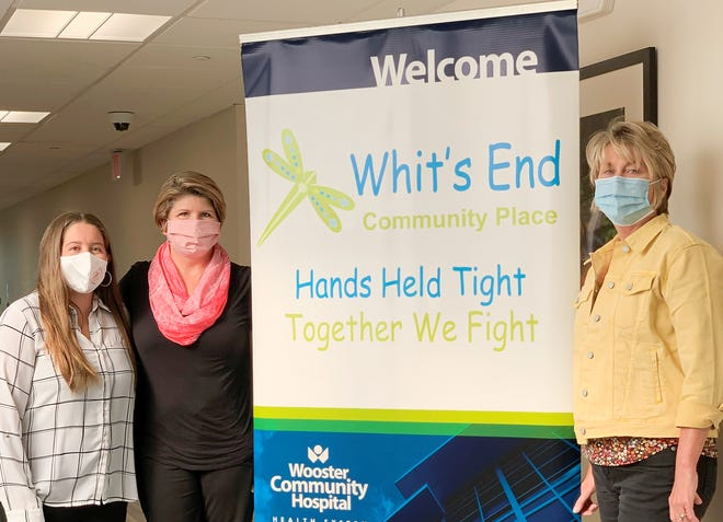 """Wooster Community Hospital and Whit's End are partnering to provide a support group and services  for cancer fighters and survivors. Among the team members are Katherine """"Kat"""" Little (left), Cathy Ballinger and Sandy Kline"""