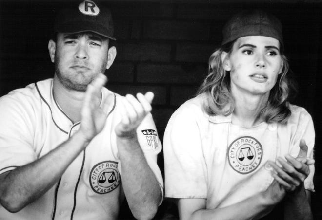 "Tom Hanks and Geena Davis in ""A League of Their Own."" [Photo/Columbia Pictures Corporation]"