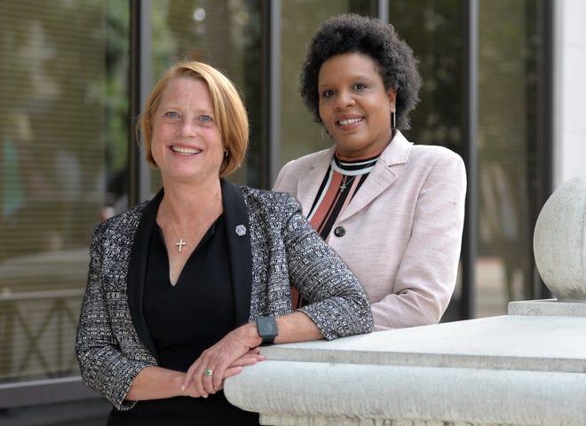 2020 EVE winners Jacksonville city councilwomen Randy DeFoor, left, and Brenda Priestly Jackson.