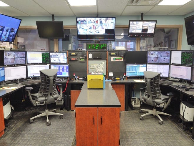 The city of Macedonia is planning to upgrade its communication system to 800 mhz, a process that will include updating equipment in its dispatch center, pictured here.