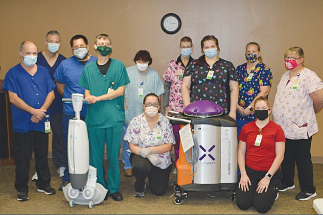 "Cleaning and janitorial crew members at Pratt Regional Medical Center welcome a new member to their team, ""Thor"" is a germ-zapping robot that destroys viruses and bacteria."