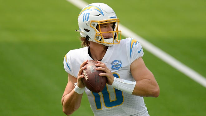 Los Angeles Chargers quarterback Justin Herbert threw for 311 yards in his NFL debut last week against the Kansas City Chiefs.
