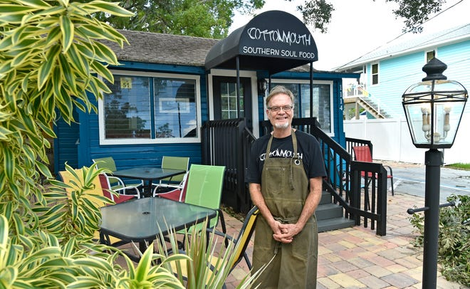 Chef/owner David Shiplett stands in front of his new restaurant, Cottonmouth Southern Soul Kitchen, in Bradenton's Village of the Arts. It's near Birdrock Taco Shack, which he opened about five years ago.