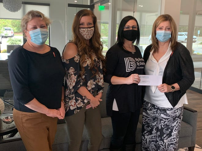 Shown, from left, are Tracy Meeuwsen, program director at the Avedis Foundation; Cheyenne Pettigrew, Avedis office manager; Nikki Rieves, area director for Big Brothers Big Sisters Shawnee; and Dr. Kathy Laster, Avedis president and CEO.