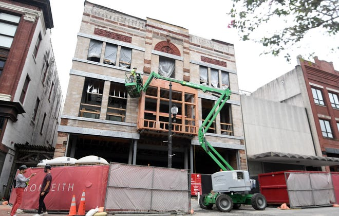 "The building known as the ""Gaylord Building"" at 226 N. Front St. is undergoing a complete restoration in downtown Wilmington, N.C., Friday, September 25, 2020. The oldest part of the building was built in 1900 and was originally Gaylord's Dry Goods Store and was also the first location for Belk department store in Wilmington."