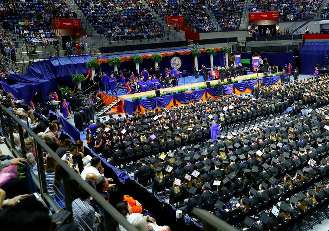 Fall Commencement Ceremony at the Exactech Arena in Gainesville, Fla. Dec. 14, 2019.