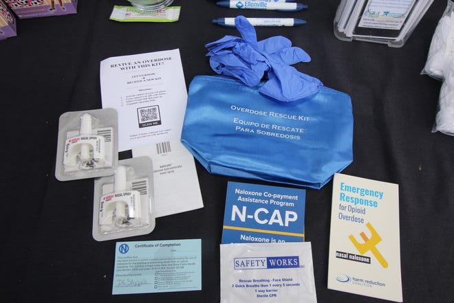 Supplies including naloxone kits.