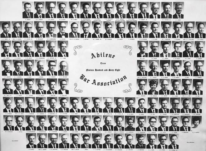 The Abilene Bar Association in 1968 had just three women members, including Beverly Tarpley (seventh row, far right).