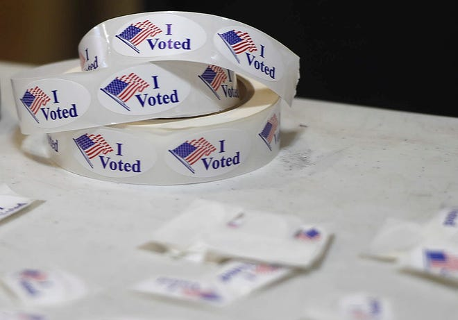 Stickers for voters in Nueces County