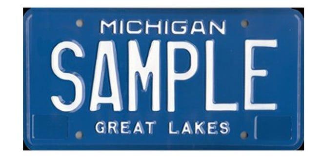 Michigan's old license plate design.