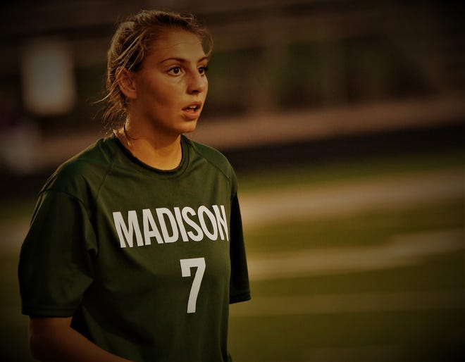 Madison's Kari Eckenwiler scored two goals in a 6-1 win over Lexington which netted the Lady Rams at least a share of the OCC title.