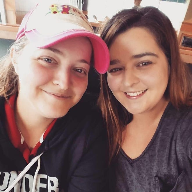 Sisters Brittany Hassler, left, and Melissa Gorall started a Facebook group, Anchor of Hope, which collects and provides donations for people in Sussex and surrounding areas.