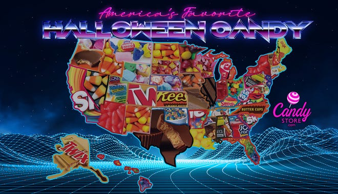 Skittles were ranked as America's favorite Halloween candy in CandyStore.com's annual analysis.