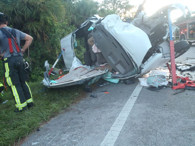 The Florida Highway Patrol continues this morning to investigate a two-vehicle head-on crash on SR 82, east of Corkscrew Road early Friday, Sept. 25, 2020.